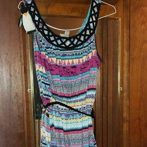 Aztech patterned summer dress